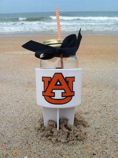 Auburn Tigers Beach Spiker-Drink, Keys, Phone Holder via Etsy