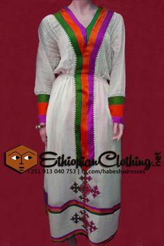 Handmade Eritrean/Ethiopian traditional dress, tibeb with telf.