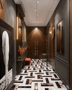 Home Room Design, Interior Design Living Room, Interior Decorating, House Design, Luxury Flooring, Lobby Design, Contemporary Apartment, Shop Interiors, Fireplace Design