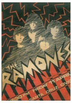 The Ramones ~ Civic Auditorium, Santa Cruz 1980   Artist: Su. Suttle