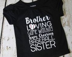 Perfect tshirt for the little sister of a baseball player!!! Show your brother some baseball love!! https://avid-custom-designs.myshopify.com/collections/all/toddler-tee