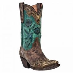 Repin if you would wear these gorgeous boots!  Dan Post Ladies Blue Bird Sanded Copper Boot