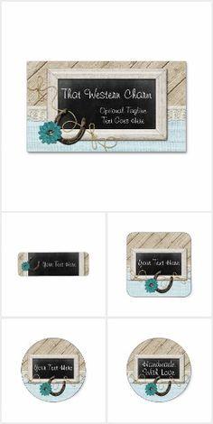 #Western Charm on @zazzle #SmallBusiness #Branding #Marketing #Rustic #Country #Chalkboard #Wood #Southwest #Horse #Horseshoe #Sticker #Label #Personalized #Printable #Business #Card #Handmade #Craft #Business