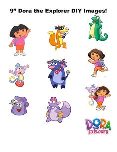 Dora and friends! Birthday Favors, 4th Birthday Parties, Baby Birthday, Birthday Ideas, Dora Boots, Dora Diego, Dora Cake, Dora And Friends, Dora The Explorer