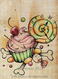 i love cupcake tattoos!
