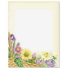 Spring Basket Letter Paper | Idea Art