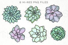 New succulent watercolor tattoo clip art Ideas Succulents Drawing, Purple Succulents, Cactus Drawing, Purple Plants, Watercolor Succulents, Cactus Flower, Cactus Plants, Foliage Plants, Green And Purple