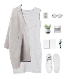 """Light Greys"" by e-rose-t ❤ liked on Polyvore featuring Monki, Zero + Maria Cornejo, ASOS, Aesop, Torre & Tagus, Omorovicza, 3.1 Phillip Lim and Diptyque"