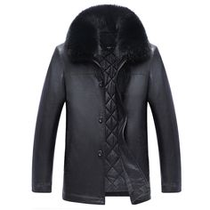 >> Click to Buy << Customized Made Business Leather Jackets With Fox Fur Collar England Style Luxury Brand Mens Leather Jackets 4XL Plus Size C174 #Affiliate