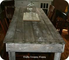 Reclaimed Pallet Wood Dining Table, Upcycled, Louisiana (Large ...