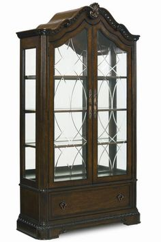 Shop Pemberleigh Gracious Living Walnut Curio Cabinet with great price, The Classy Home Furniture has the best selection of to choose from Belfort Furniture, Living Room Cabinets, Cabinets For Sale, Dream Wall, Quality Furniture, Furniture Decor, Home Decor, Curio Cabinets, Classic Furniture