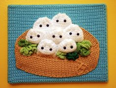 "Another crochet ""painting"" by Twinkie Chan"