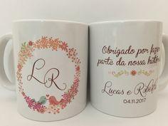 Caneca Personalizada de Casamento Names For Boyfriend, Wedding Favour Jars, Girls Dream, Custom Mugs, Wedding Pictures, Ideas Para, Dream Wedding, Marriage, Tableware