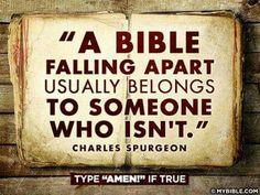A Bible Falling Apart.........    Amen!