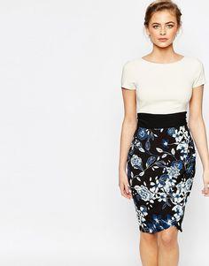2543 Изображение 1 из Платье-футляр 2 в 1 с короткими рукавами Closet