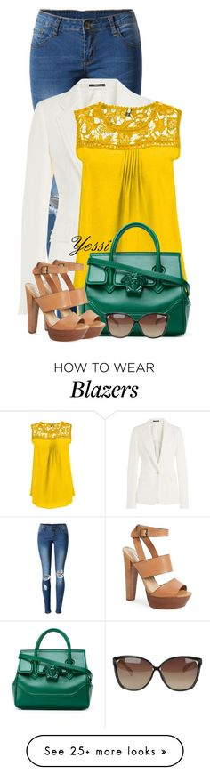 """""""~  Leather Purse with Top Handle  ~"""" by pretty-fashion-designs on Polyvore featuring WithChic, Maison Margiela, Versace, Steve Madden, Linda Farrow and plus size clothing"""