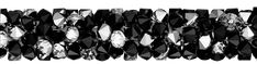 SWAROVSKI® 5951 Fine Rocks Tube (280 Jet Black Metallic Silver) Swarovski, Innovation, Jet, Tube, Rocks, Metallic, Spring Summer, Steel, Crystals