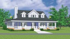 Farmhouse House Plan with 1673 Square Feet and 3 Bedrooms from Dream Home Source | House Plan Code DHSW45654