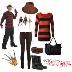 Freddy Krueger Costume, created by calilove31.polyvore.com