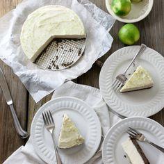 Lime-Coconut Ice Cream Pie with Chocolate Almond Crust - eathealthyeathappy.com