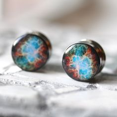 Nebula Plugs Space Gauges Nerdy Gauges Resin Plugs by FashionPlugs