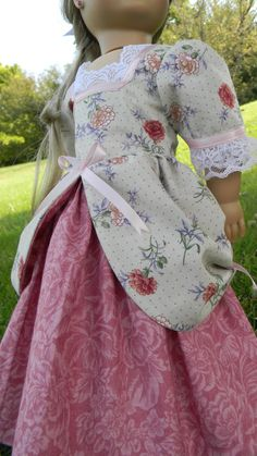 18 Colonial Style Ball gown for American girl by DollGownsByWendy,
