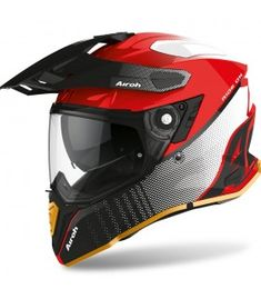 Airoh On-off Commander Special Edition Road Routes, Enduro, Super Bikes, Motorcycle Helmets, Innovation Design, Automobile, Ebay, Red Black, Naked