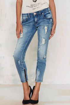 One Teaspoon Freebirds Cropped Jeans