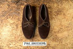 Today we wanted to show some insight of the Pike Brothers Archives. Here we have a very nice pair of Pike Brothers Dress Shoes. Made from suede leather with leather sole and nailed heel. Made in th...