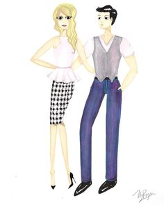 Coupled Up.   My first male drawing #fashionillustration #sketch #drawing