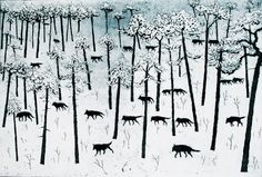 Hunters in the Snow, 20 x 30 cm.