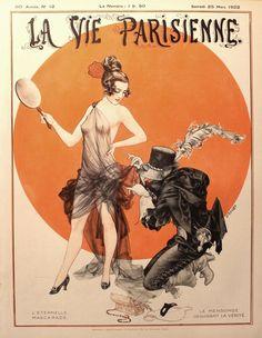 """""""L'Eternelle Mascarade - Le Mensonge déguisant la Vérité"""". Publié en couverture de la Vie Parisienne du 25 mars 1922 1170×1510 пикс"""