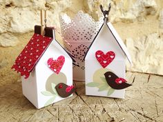 More details including the template can be found on my blog at http://sarahboirin.blogspot.fr/2015/01/valentines-treat-bird-house-video.html Thanks for watch...