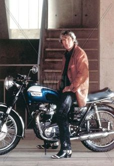 Richard Gere on a Bonneville T120