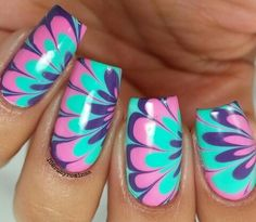 Full color nails. Jalado de esmaltes.