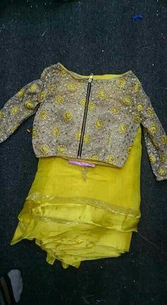 Plain saree with heavy work net blouse