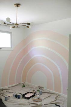 Big Girl Bedrooms, Little Girl Rooms, Kids Bedroom, Bedroom Ideas, Girl Bedroom Walls, Bedroom Makeovers, Design Bedroom, Master Bedroom, Rainbow Bedroom