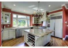 This kitchen island will be a huge benefit for homeowners who like to entertain.   Foothill Blvd, Calistoga, CA