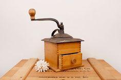 vintage coffee grinder by BeautifulLine on Etsy, $58.00