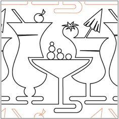 Image result for cocktail hour line art
