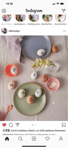Diy Ostern, Plates, Tableware, Dekoration, Ideas, Licence Plates, Dishes, Dinnerware, Plate