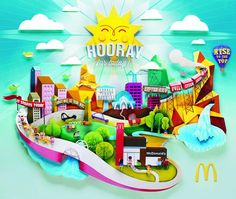 The Print Ad titled Universe was done by Leo Burnett Manila advertising agency for product: Mcdonald's Fast Food Restaurant (brand: McDonald's) in Philippines. It was released in the Feb 2013.