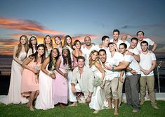 Alexa Vega poses with her new husband Carlos Pena, Jr. and their wedding party on Jan. 4, 2014.