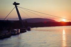 sunset in Bratislava