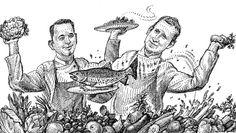 """Andree Köthe und Yves Ollech verwenden in ihrem Nürnberger Restaurant """"Essigbrätlein"""" am liebsten das, was der fränkische Erdboden hergibt – und kochen sich damit in höchste Sphären."""