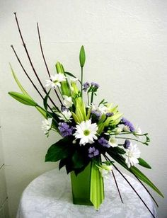 images of crescent shaped flower arrangements - Google Search