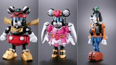 individual disney characters that form part of the voltron toy!