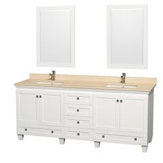 "Acclaim 80"" Double Bathroom Vanity Set by Wyndham Collection - White"