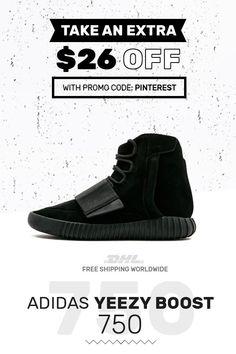 c28846f31 New Adidas Yeezy Boost 750 Triple Black sneakers online