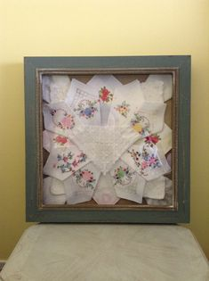 Display antique handkerchiefs.
